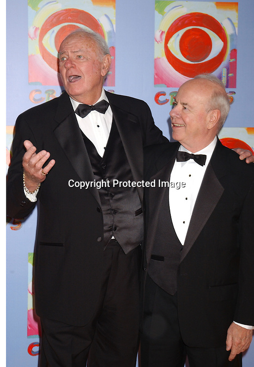 ..Harvey Korman and  Tim Conway..at CBS's 75th Anniversary at The Hammerstein Ballroom in ..New York City on November 2, 2003. Photo by Robin Platzer, Twin Images