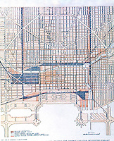 Burnham Plan:  Diagram of City Center, Railroad Lines.  P. 68.  Photo '78.