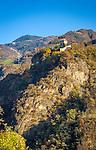 Italy, Alto Adige - Trentino (South Tyrol), Renon: Castle Wangen-Bellermont at Sarentino Valley, built between 1209 and 1237, today privately owned | Italien, Suedtirol (Alto Adige-Trentino), Ritten: Burg Wangen-Bellermont im Sarntal, erbaut zwischen 1209 und 1237, heute in Privatbesitz