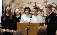 Pictured: Llangatwck Community School presentation Wednesday 25 November 2015<br /> Re: Schools take part in this year's Premier League Enterprise vent at Penderyn Suite, Liberty Stadium, Swansea, UK