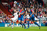 Sun 22 September 2013<br /> <br /> Pictured: Alvaro Vasquez in a challenge with Mile Jedinak of Crystal Palace<br /> <br /> Re: Barclays Premier League Crystal Palace FC  v Swansea City FC  at Selhurst Park, London