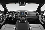 Stock photo of straight dashboard view of 2021 Ram 1500 Big-Horn 4 Door Pick-up Dashboard