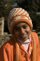 Cyrene, Shahat, Cyrenaica, Libya, North Africa - Libyan Teenage Girl in Sporty Western Clothes.