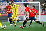Romania's Dragus Denis and Spain's Igor Zubeldia, Spain's Sergio Reguilon   during the International Friendly match on 21th March, 2019 in Granada, Spain. (ALTERPHOTOS/Alconada)