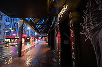 Manners Street, Wellington CBD, at 7am during Level 4 lockdown for the COVID-19 pandemic in Wellington, New Zealand on Friday, 27 August 2021.