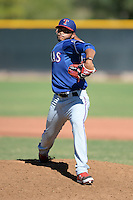 Texas Rangers pitcher Marcos Diplan (55) during an Instructional League game against the Cincinnati Reds on October 3, 2014 at Surprise Stadium Training Complex in Surprise, Arizona.  (Mike Janes/Four Seam Images)