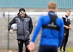 St Johnstone Training....24.02.21<br />Manager Callum Davidson pictured talking with James Brown during training at McDiarmid Park ahead of Sunday's BETFRED Cup Final against Livingston at Hampden Park.<br /><br />Picture by Graeme Hart.<br />Copyright Perthshire Picture Agency<br />Tel: 01738 623350  Mobile: 07990 594431