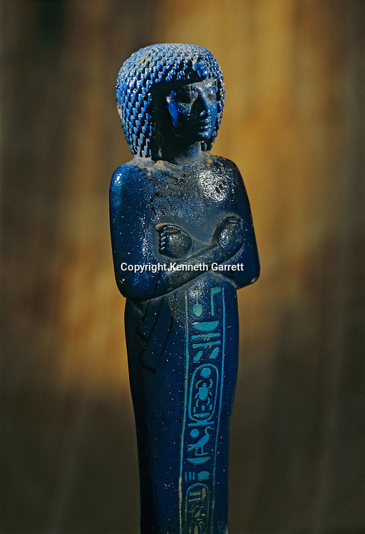 Faience shabti, Tutankhamun and the Golden Age of the Pharaohs, Page 253 right