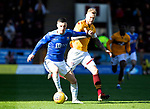 Motherwell v St Johnstone….30.03.19   Fir Park   SPFL<br />Michael O'Halloran and Richard Tait<br />Picture by Graeme Hart. <br />Copyright Perthshire Picture Agency<br />Tel: 01738 623350  Mobile: 07990 594431
