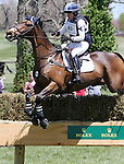 April 26, 2014: Inmidair and Jan Byyny compete in Cross Country at the Rolex Three Day Event in Lexington, KY at the Kentucky Horse Park.  Candice Chavez/ESW/CSM