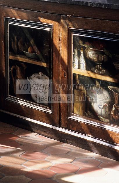 Europe/France/Ile-de-France/77/Seine-et-Marne/Barbizon: Auberge Ganne - Musée de l'école de Barbizon - Détail buffet peint