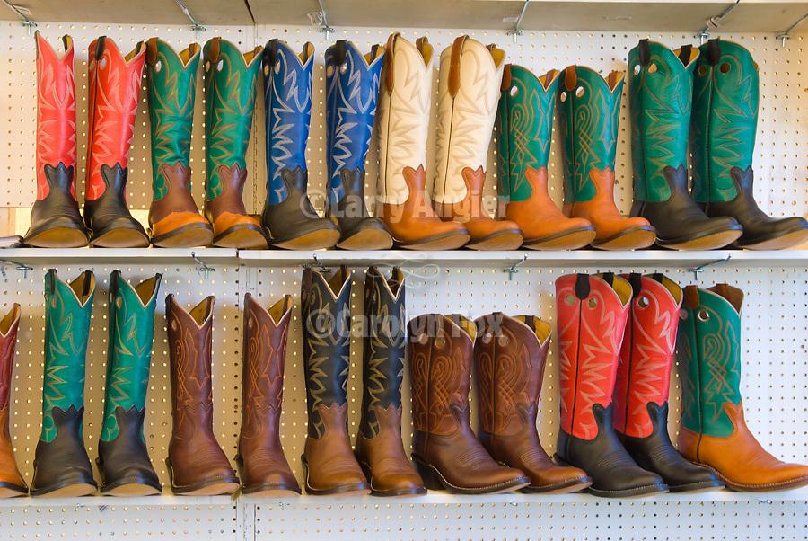 Jordan Valley Big Loop Rodeo..Colorful cowboy boots on display for sale