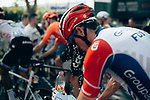 Cooling down after a very hot day in the saddle at the end of Stage 16 of the 2019 Tour de France running 177km from Nimes to Nimes, France. 23rd July 2019.<br /> Picture: ASO/Thomas Maheux   Cyclefile<br /> All photos usage must carry mandatory copyright credit (© Cyclefile   ASO/Thomas Maheux)