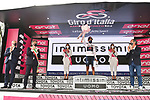 Race leader Egan Bernal (COL) Ineos Grenadiers also retains the young riders Maglia Bianca at the end of Stage 13 of the 2021 Giro d'Italia, running 198km from Ravenna to Verona, Italy. 21st May 2021.  <br /> Picture: LaPresse/Massimo Paolone | Cyclefile<br /> <br /> All photos usage must carry mandatory copyright credit (© Cyclefile | LaPresse/Massimo Paolone)