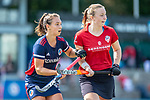 Mannheim, Germany, September 12: During the 1. Bundesliga women fieldhockey match between Mannheimer HC (blue) and Ruesselsheimer RK (red) on September 12, 2020 at Am Neckarkanal in Mannheim, Germany. Final score 2-0 (HT 1-0). (Copyright Dirk Markgraf / www.265-images.com) *** Julia Meffert #97 of Mannheimer HC