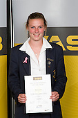 Girls Football winner Anna Green from Epsom Girls Grammar School. ASB College Sport Young Sportperson of the Year Awards 2008 held at Eden Park, Auckland, on Thursday November 13th, 2008.