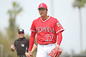 MLB: Los Angeles Angels Shohei Ohtani during spring training practice game