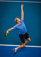 Amstelveen, Netherlands, 17  December, 2020, National Tennis Center, NTC, NK Indoor, National  Indoor Tennis Championships, Doubles   :  Botic van de Zandschulp (NED) <br /> Photo: Henk Koster/tennisimages.com