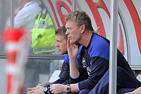 FAO SPORTS PICTURE DESK<br /> Pictured: Everton manager David Moyes. Saturday, 24 March 2012<br /> Re: Premier League football, Swansea City FC v Everton at the Liberty Stadium, south Wales.