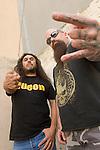Portraits of Slayer members, Tom Araya & Kerry King.