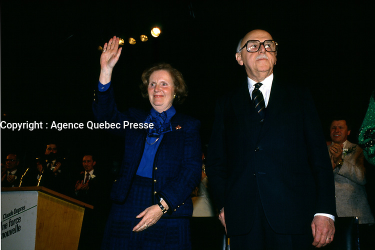 1985 File Photo - Jean Drapeau, Mayor, Montreal<br /> <br />  Drapeau was a Canadian lawyer and politician who served as mayor of Montreal from 1954 to 1957 and 1960 to 1986. During his tenure as mayor he was responsible for the construction of the Montreal Metro system and the Place des Arts concert hall, for conceiving Expo 67, for securing the 1976 Summer Olympics, and for helping to bring Major League Baseball to Montreal with the creation of the Montreal Expos.<br /> <br /> Although he is remembered as a visionary, Drapeau's mishandling of the construction of the Olympic Games facilities resulted in massive cost overruns and left the city with a debt of over $1 billion that has taken its citizens over thirty years to fully pay off.