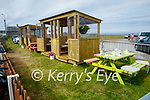 The new outdoor dining pods in Ballybunion on Sunday,