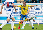 Greenock Morton v St Johnstone….09.07.19      Cappielow        Pre-Season Friendly<br />Kyle McClean is fouled by a Morton trialist<br />Picture by Graeme Hart. <br />Copyright Perthshire Picture Agency<br />Tel: 01738 623350  Mobile: 07990 594431
