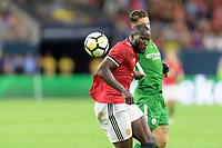 Houston, TX - Thursday July 20, 2017: Romelu Lukaku during a match between Manchester United and Manchester City in the 2017 International Champions Cup at NRG Stadium.
