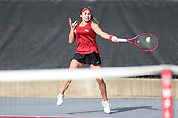 RALEIGH, NC - JANUARY 25: Martina Capurro of the University of Oklahoma during a game between Oklahoma and Florida at J.W. Isenhour Tennis Center on January 25, 2020 in Raleigh, North Carolina.