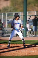 Robbie Tillman (10) of Columbus High School in Columbus, Georgia during the Baseball Factory All-America Pre-Season Tournament, powered by Under Armour, on January 13, 2018 at Sloan Park Complex in Mesa, Arizona.  (Zachary Lucy/Four Seam Images)