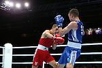 Glasgow 2014 Commonwealth Games<br /> Zack Davies, Wales (Red) v Josh Taylor, Scotland (Blue).<br /> Men's Light Welter (64kg)<br /> SECC<br /> 29.07.14<br /> ©Steve Pope-SPORTINGWALES