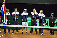 September 12, 2014, Netherlands, Amsterdam, Ziggo Dome, Davis Cup Netherlands-Croatia, Presentation, Team Netherlands<br /> Photo: Tennisimages/Henk Koster