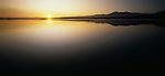 Sunrise on Okarito Lagoon in the Westland Region of New Zealand.