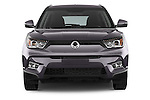 Car photography straight front view of a 2015 Ssangyong Tivoli Quartz 5 Door Suv Front View