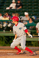 May 6 2010: Troy Hanzawa (21) of the Clearwater Threshers during a game vs. the Daytona Cubs at Jackie Robinson Ballpark in Daytona Beach, Florida. Clearwater, the Florida State League High-A affiliate of the Philadelphia Phillies, won the game against Daytona, affiliate of the Chicago Cubs, by the score of 4-1.  Photo By Scott Jontes/Four Seam Images