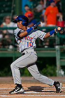 Wilfredo Tovar (10) of the St. Lucie Mets during a game vs. the Daytona Cubs May 16 2010 at Jackie Robinson Ballpark in Daytona, Florida. St. Lucie won the game against Daytona by the score of 5-3.  Photo By Scott Jontes/Four Seam Images