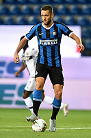 Stefan de Vrij of FC Internazionale in action during the Serie A football match between Parma and FC Internazionale at stadio Ennio Tardini in Parma ( Italy ), June 28th, 2020. Play resumes behind closed doors following the outbreak of the coronavirus disease. <br /> Photo Andrea Staccioli / Insidefoto