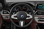 Car pictures of steering wheel view of a 2018 BMW 7 Series M760 Li 4 Door Sedan