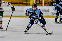 30 November 2018: University of Maine Black Bear Forward Liga Miljone, a Freshman from Riga, Latvia, in first period action against the University of Vermont Catamounts at Gutterson Fieldhouse in Burlington, Vermont. The Lady Bears defeated the Lady Cats 2-1 in the first game of their 2-game Hockey East series. Mandatory Credit: Ed Wolfstein Photo *** RAW (NEF) Image File Available ***