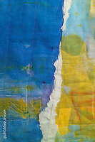 """Detail from """"On The Bay""""; Contemporary quilt by artist Marie Jensen, using appliqué, a fusible web and hand painted fabrics."""