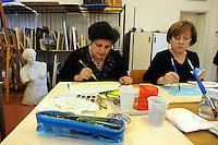 Corso di acquerello.Course of Watercolor..L' Università popolare di Roma si occupa della formazione permanente degli adulti. Fondata il 30 marzo 1987.Popular University of Rome is responsible for the adults education.Founded March 30 1987...
