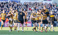 SCF2016 - RBAI vs Campbell College | Thursday 17th March 2016<br /> <br /> RBAI celebrate their victory at the final whistle during the Ulster Schools Cup Final between RBAI and Campbell College at Kingspan Stadium, Ravenhill Park, Belfast, Northern Ireland. Photo credit: John Dickson / DICKSONDIGITAL
