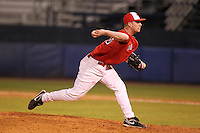 Illinois State Redbirds pitcher Jacob Wielebnicki #43 during a game vs. the Xavier Musketeers at Chain of Lakes Stadium in Winter Haven, Florida;  March 5, 2011.  Illinois State defeated Xavier 7-6.  Photo By Mike Janes/Four Seam Images