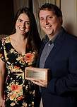 "Winner Bryan Danna and his wife Becky representing Revive Development at Preservation Houston's ""The Cornerstone Dinner""  presenting the 2018 Good Brick Awards at the River Oaks Country Club Friday March 02,2018. (Dave Rossman Photo)"