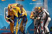 #86 Michael Shank Racing with Curb-Agajanian Acura NSX, GTD: Katherine Legge, Alvaro Parente, podium, #96 Turner Motorsport BMW M6 GT3, GTD: Dillon Machavern, Bill Auberlen, Don Yount, champagne
