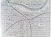 "Utopia:  ""New Babylon, Kansas Ter. "" Plan of city on paper. REPS, MAKING OF URBAN AMERICA, fig. 218."