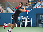 Janko Tipsarevic (SRB) defeats Jack Sock (USA) 3-6, 7-6, 6-1, 6-2, at the US Open being played at USTA Billie Jean King National Tennis Center in Flushing, NY on August 31, 2013