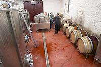 Pascal Perret Domaine Mas Lumen in Gabian. Pezenas region. Languedoc. Barrel cellar. France. Europe.
