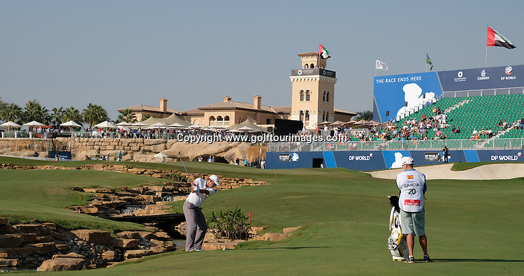 Sergio Garcia (ESP) during round one of the 2016 DP World Tour Championships played over the Earth Course at Jumeirah Golf Estates, Dubai, UAE: Picture Stuart Adams, www.golftourimages.com: 11/17/16