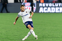 FOXBOROUGH, MA - APRIL 24: Frederic Brillant #13 of D.C. United passes the ball during a game between D.C. United and New England Revolution at Gillette Stadium on April 24, 2021 in Foxborough, Massachusetts.